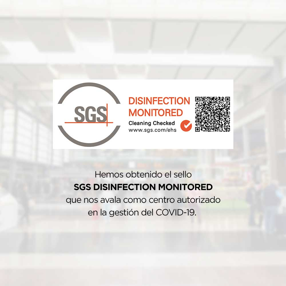 FOR YOU, FOR US, FOR MALAGA VIALIA IS AWARDED THE SGS DISINFECTION MONITORED MARK
