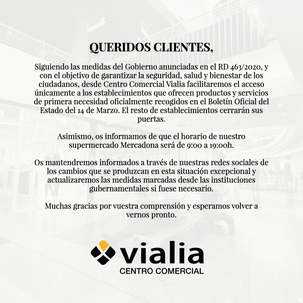 COMUNICADO OFICIAL VIALIA CENTRO COMERCIAL