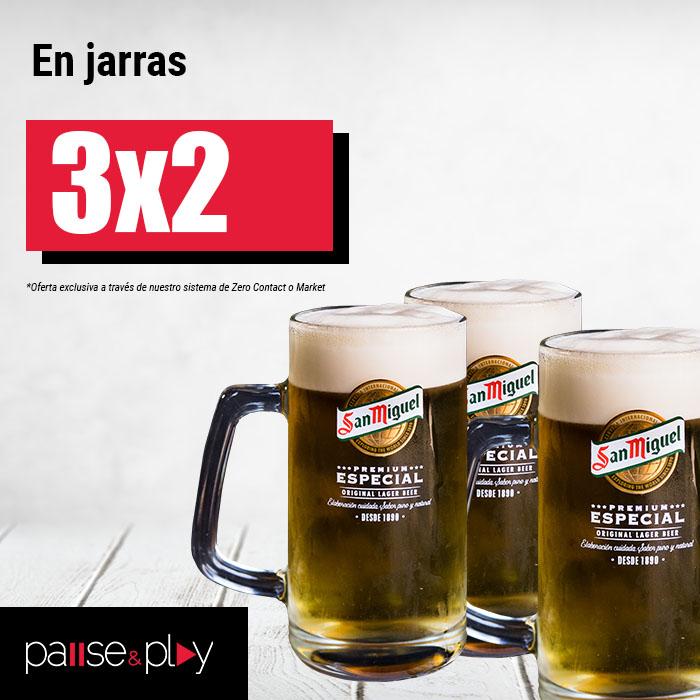 Pause&Play: 3x2 en jarras