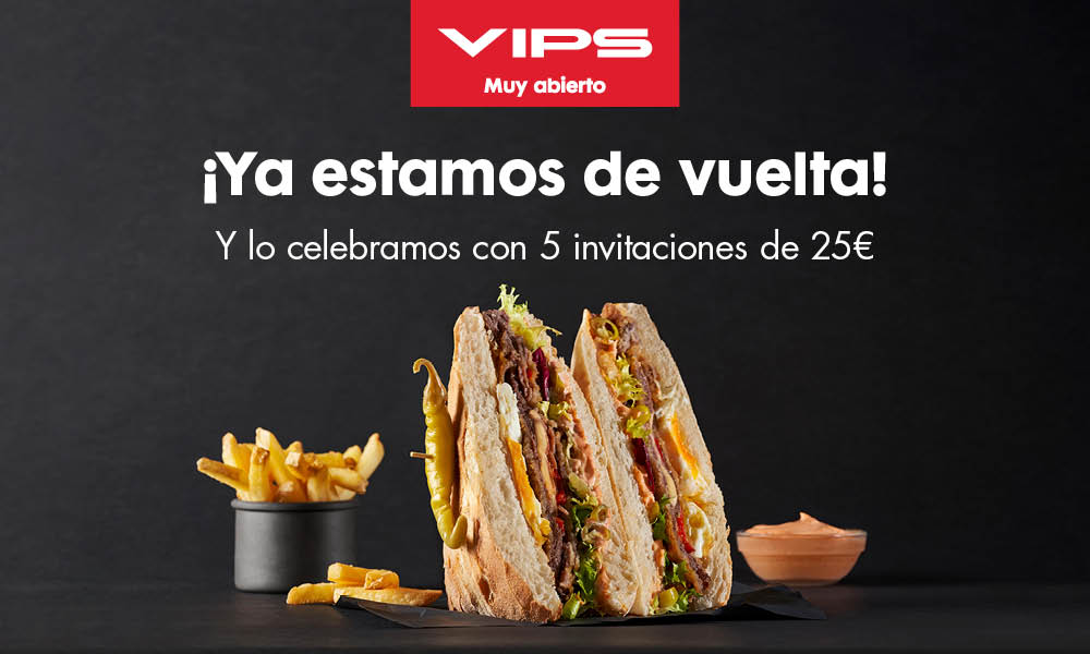 ¡SORTEAMOS 5 VALES DE 25€ PARA GASTAR EN VIPS!