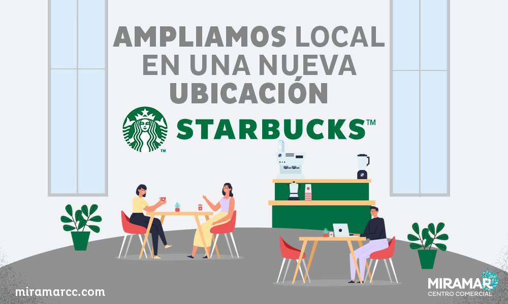 Starbucks inaugure un nouveau local au centre commercial Miramar!