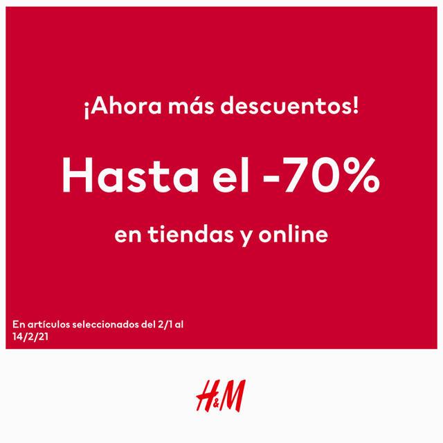 Hasta 70% de descuento en H&M