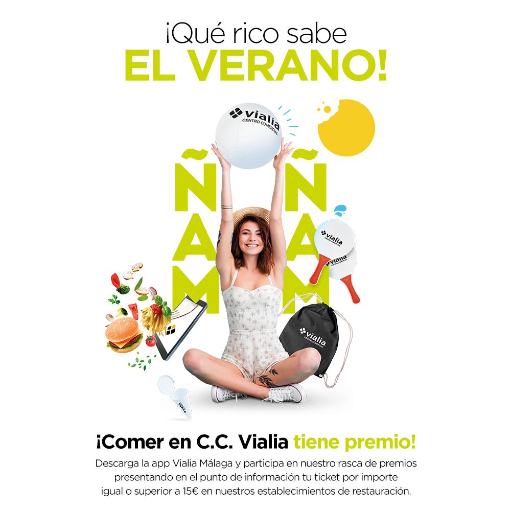 ¡Este verano, comer en Vialia Málaga tiene premio!