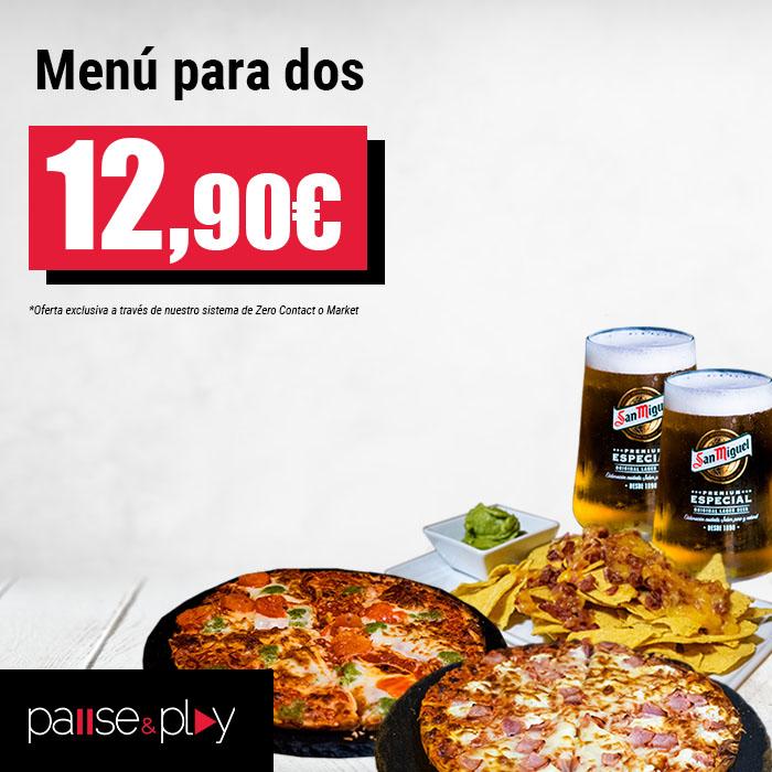 Pause&Play: Menú para dos por 12,90€