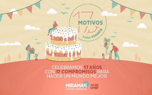 ¡Centro Comercial Miramar cumple 17 años! Lo celebramos con 17 motivos para sonreír