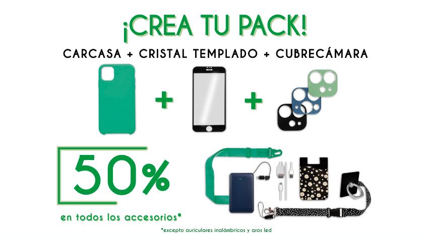 La Casa de las Carcasas - Funda móvil + Cristal Templado + 3er artículo → 50%  en accesorios