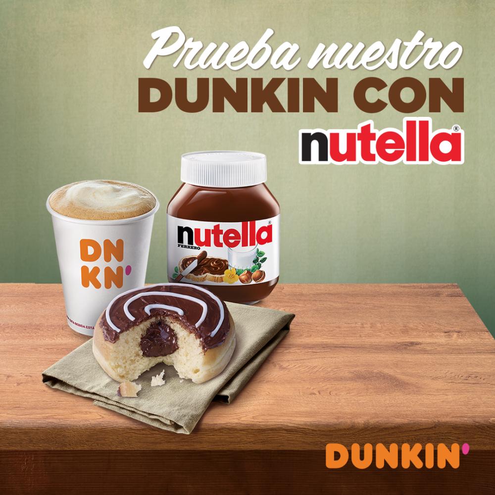 ¡Nuevo dunkin con Nutella en Dunkin'Coffee!