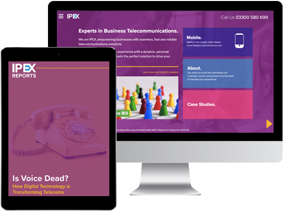 IPEX Website and Whitepaper presented on a Mac and iPad