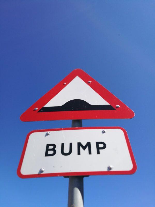 Road sign - bump
