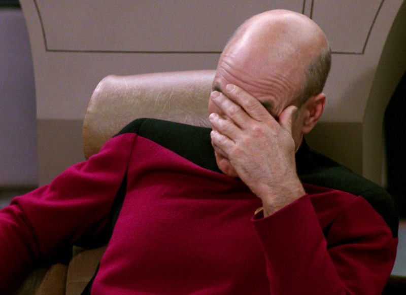 Captain Picard Facepalm ©Paramount