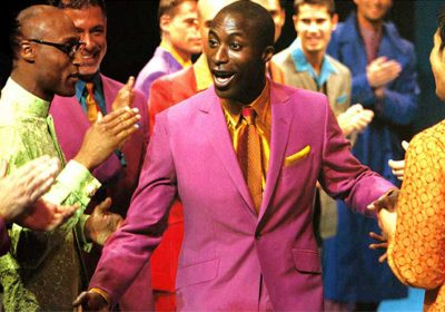 Ozwald Boateng wearing a pink suit