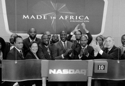Photo of the launch of the Made in Africa Foundation with Ozwald Boateng and team