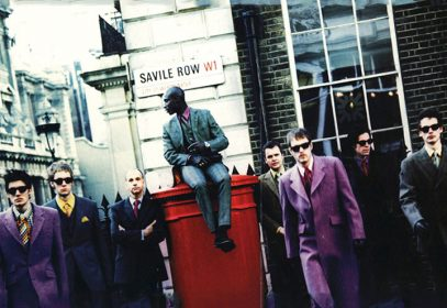 Photo of Savile Row London with men wearing Ozwald Boateng's suits