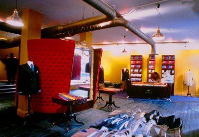 Photo of Ozwald Boateng's first store on Vigo Street London