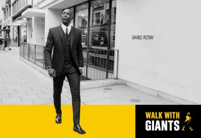 Ozwald Boateng stars in Johnnie Walker's 'Walk with Giants', an online campaign