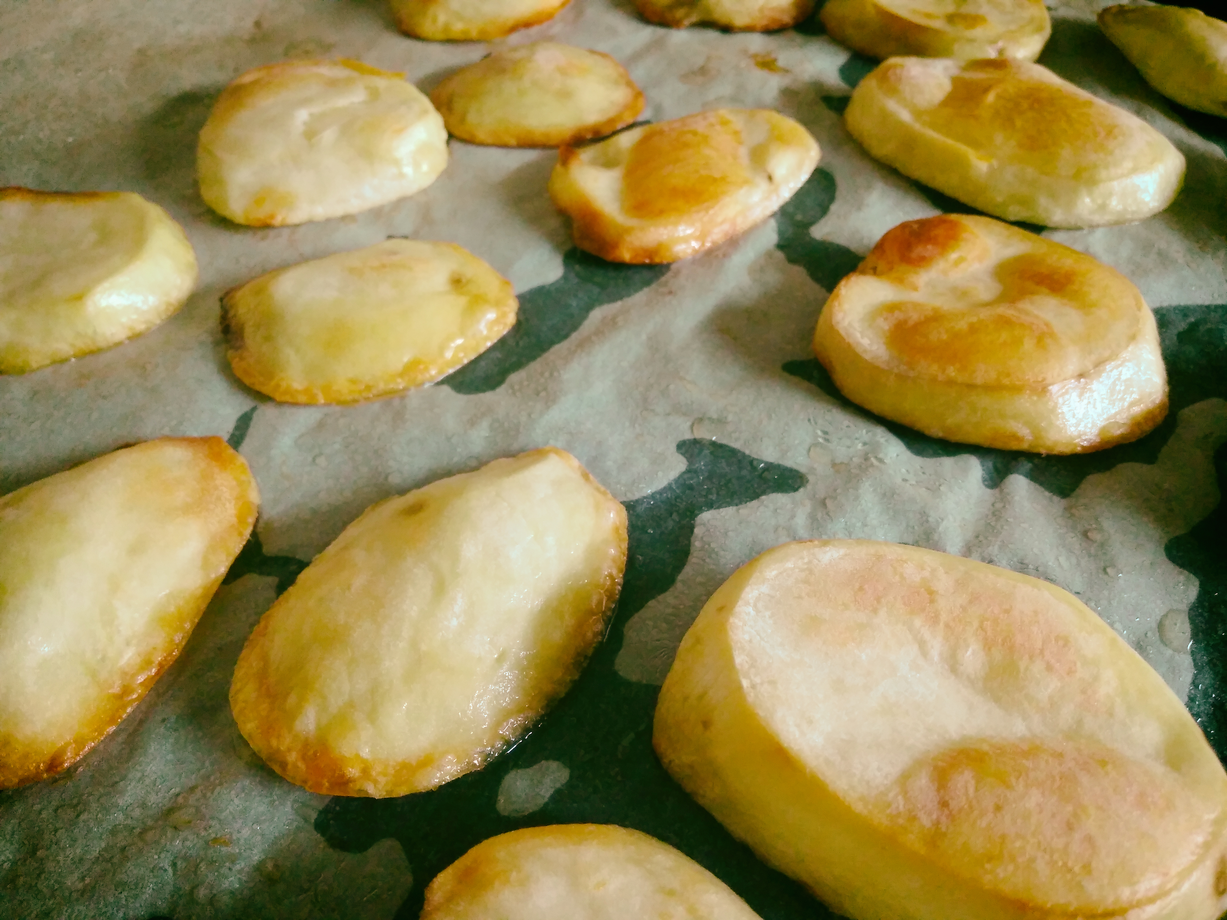 Картофель печеный.