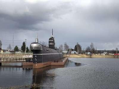 Музей - визитная карточка городка Вытегра. Дизельная подводная лодка на вечном приколе @dmitry_serdyk