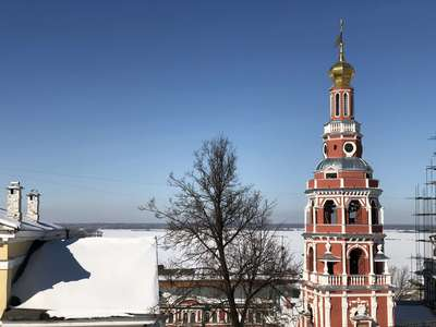 Реставрируемая колокольная на набережной Нижнего Новгорода @dmitry_serdyk