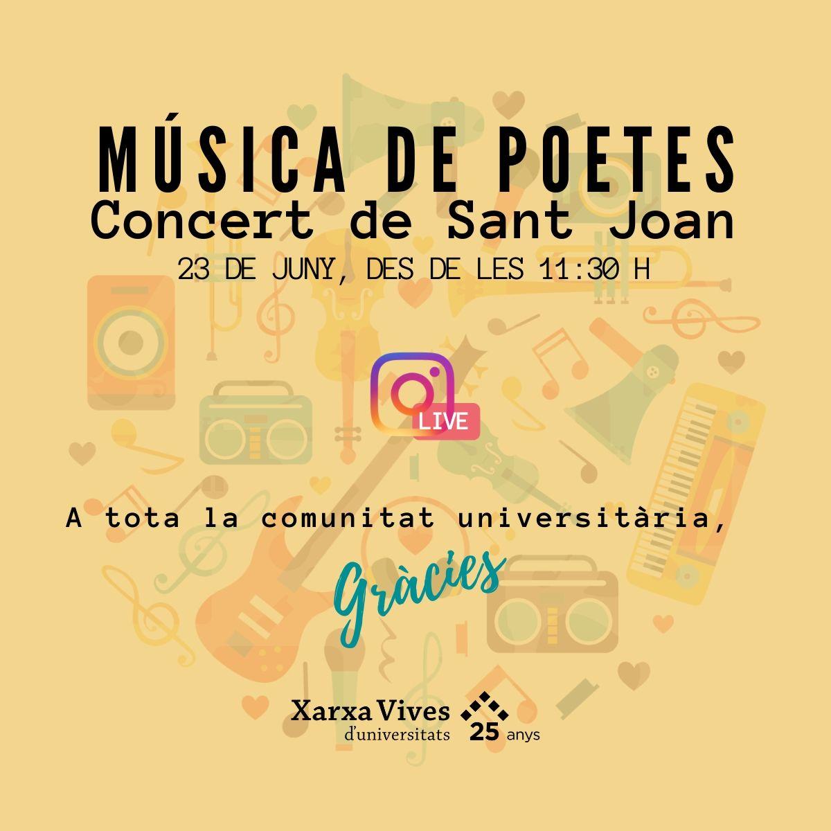 Concert de Sant Joan Música de poetes