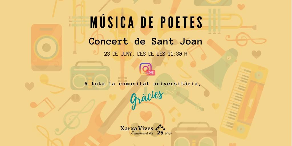 Música de poetes. Concert de Sant Joan de la Xarxa Vives d'Universitats_tw
