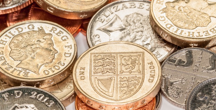 Sterling strengthens considerably over the past month
