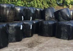 Farmers accused of fly-tipping as silage bales picked up by floods in Wales