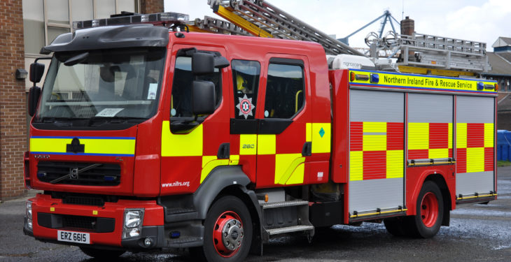 33 firefighters endeavour to rescue cattle which fell into a slurry tank