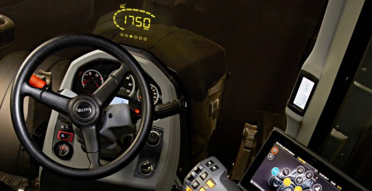 Belt up and strap in: Valtra gets a 'heads-up' display