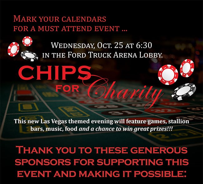 Chips for Charity Benefitting the Arabian Horsemen's Distress Fund - SAVE THE DATE!