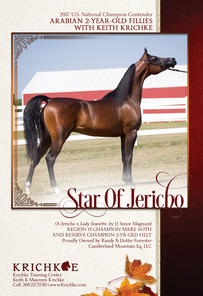 Keith Krichke Proudly Present Star of Jericho - 2 Year Old Fillies Tomorrow