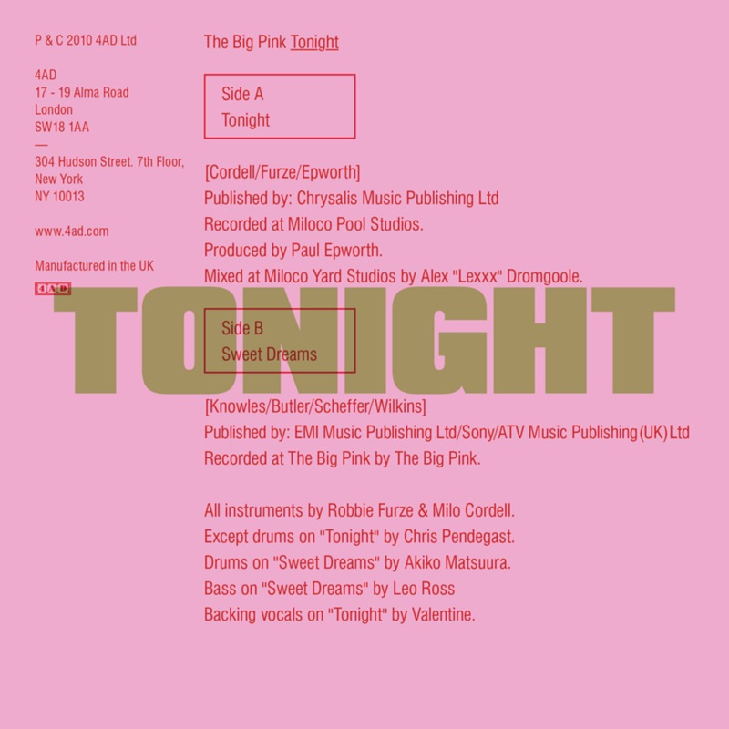 The Big Pink - Tonight
