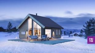 Birkenhytta Skramstad -4 sengepl. i en arealeffektiv hytte 10 m2 hems. Solrik tomt. Nøkkelferdig. Ski in/out langrenn!