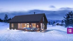 Birkenhytta Storåsen - familiehytte med 4 sov, romslig hems på hele 43m2! Nøkkelferdig på solrik tomt, ski in/out langrenn.