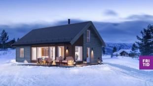 Birkenhytta Midtfjellet - med gulvareal på 108m2, romslig hems (39m2) og 3 sov. Nøkkelferdig hytte! Flott turterreng.