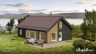 Flott familehytte med 4 soverom og stor hems på Mosetra 2, nær alpinbakken og langrennsløypene.