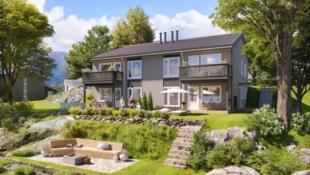 Moderne leiligheter med alt på ett plan. 2-3 sov, landlig og solrikt beliggenhet.