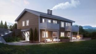 SKREIA - Ny, nøkkelferdig leilighet med 3 soverom. Romslig. Gode utsikts- og solforhold