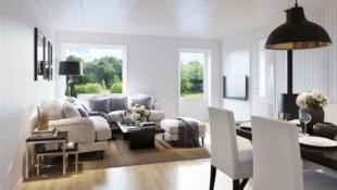 Raufoss - Smarte leiligheter med åpen stue- og kjøkkenløsning. Carport. Sportsbod. Nær Raufoss sentrum.