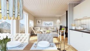 De gode minnene skapes på hytta. Nøkkelferdig hytte på solrik tomt i populære Lygnalia. Kun 1 time fra Oslo og 35 min fra Gjøvik.