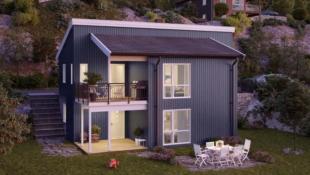 Moderne enebolig med flott utsikt over Tyrifjorden