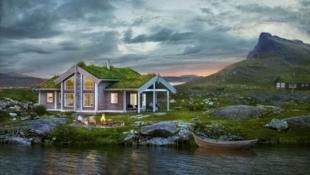 Prosjektert familiehytte flott beliggende på Myrland, gode solforhold og utsikt til Hallingskarvet