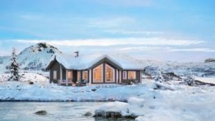 Veggli/Kråkås Prosjektert hytte fra Boligpartner på fantastisk utsiktstomt i enden av blindvei. Bukkespranget er en romslig familiehytte med 3 soverom og hems.