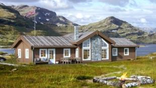 Vegglifjell Killingdalen Sør - Fantastisk hytte med mønt himling i stue. Flott utsikt med alpinbakke, skiløyper og Hardangervidda i umiddelbar nærhet.