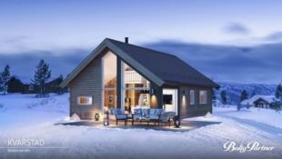 Veggli/Rennemogen Birkenhytta Kvarstad med 2 soverom og hems. Mønt himling i stue som gir romfølelse og mye lys.
