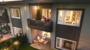 Lånekostnad kr. 4.135,-/mnd. Prosjekterte leiligheter på Vindal.