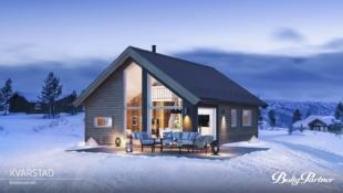 Nøkkelferdig fjellhytte på 83 kvm gulvareal inkl hems, flott beliggende på selveiertomt i Einerkilen-hyttefelt.