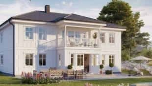 Stor nøkkelferdig einebustad i eit populært område, med flott utsikt over Leirvik.