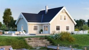 Prosjektert enebolig i nytt felt i Alversund