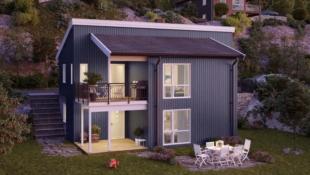 Løkja- Moderne einebustad for sal