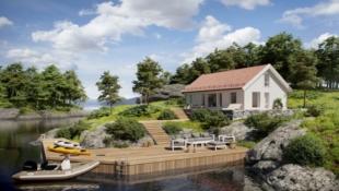 FEVÅG - Storåsen med 4 soverom på tomt med fantastisk utsikt og særdeles gode solforhold.